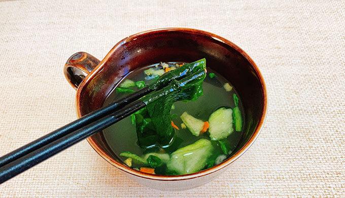 おこげのスープ(わかめアレンジ)