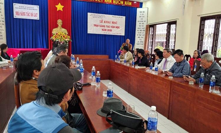 Hội Nhà văn Việt Nam khai mạc trại sáng tác văn học tại Đà Lạt