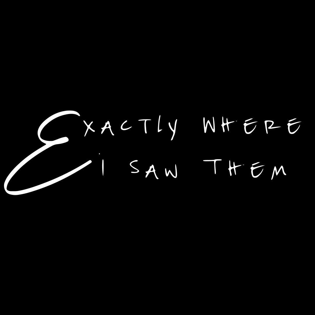 Exactly Where I Saw Them