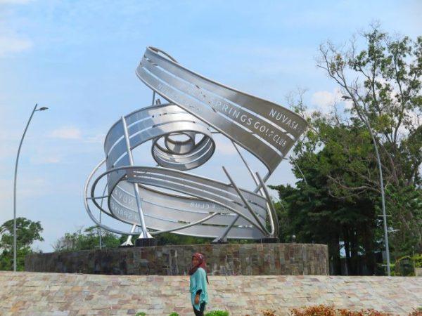 Image result for monumen futuristik nuvasa bay nongsa