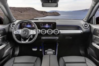 Mercedes-Benz GLB, Interieur, Leder Titangrau Mercedes-Benz GLB, interior, leather titan gre