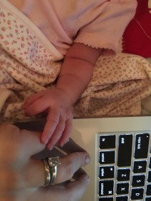 She grabbed my hand while I was working from home
