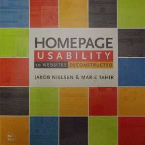 Livre Homepage uability: 50 website deconstructed