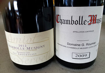 Roumier Chambolle-Musigny 2009, Amiot Chambolle-Musigny Les Amoureuses 2012