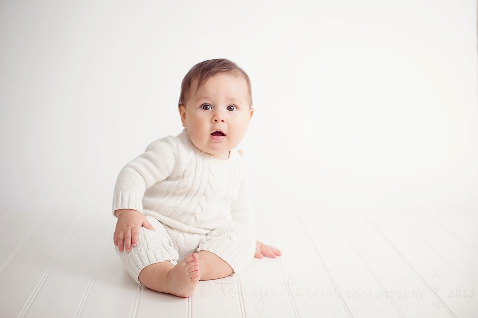 6 month old studio session | Tonya Teran Photography