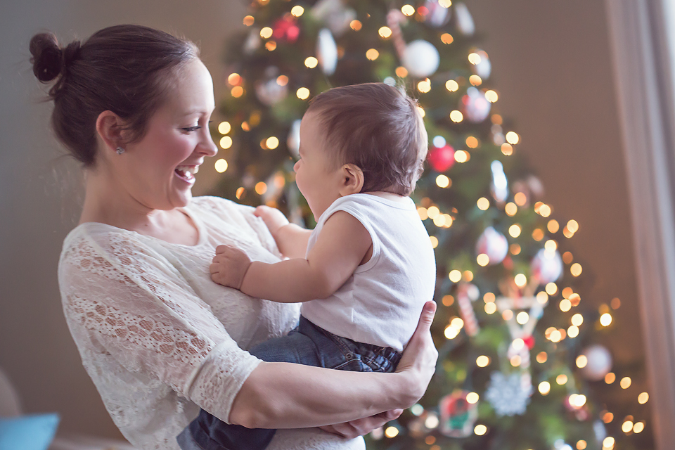 baby with christmas tree   Tonya Teran Photography, Rockvile, MD Baby Photographer
