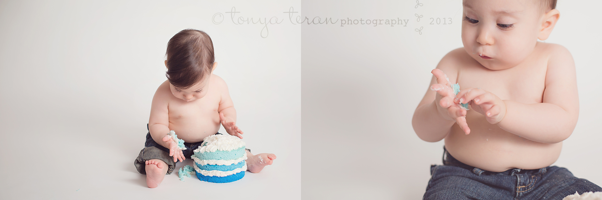 Rockville, MD Baby Birthday Cake Smash Photographer | Tonya Teran Photography