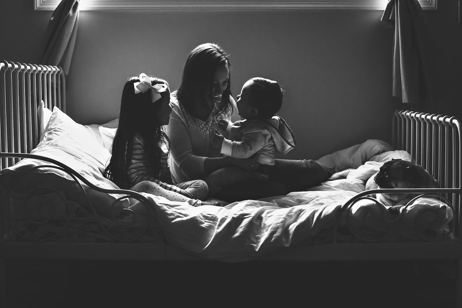 Self portrait with kids   Tonya Teran Photography - Rockville, MD Newborn Baby and Family Photography