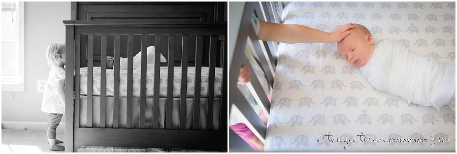 Newborn lifestyle photography pose | Tonya Teran Photography, Bethesda, MD Newborn Baby and Family Photographer