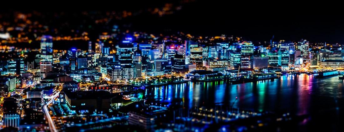 Wellington City at night
