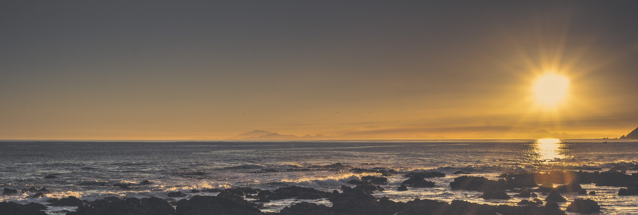 Kaikouras in the sunset from 2011