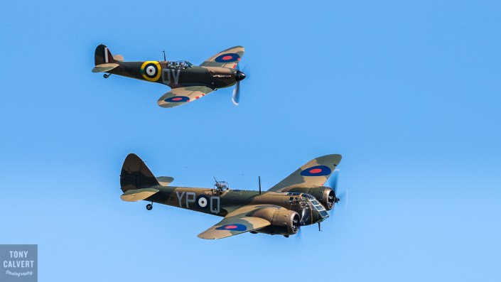 Spitfire and Bristol Blenheim