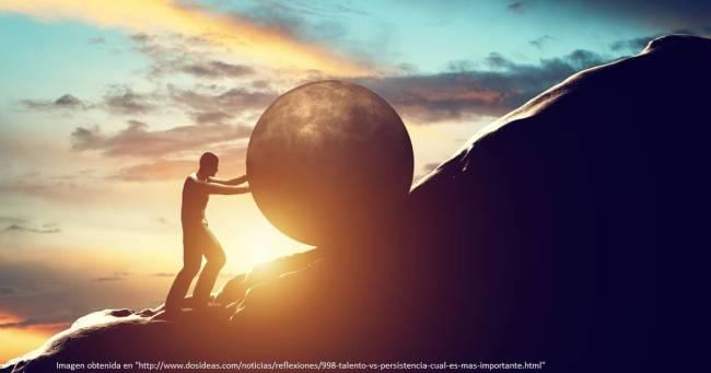 persistencia. cambiar de vida.