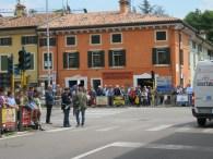 la semafor, intersecție Bixio cu Pace