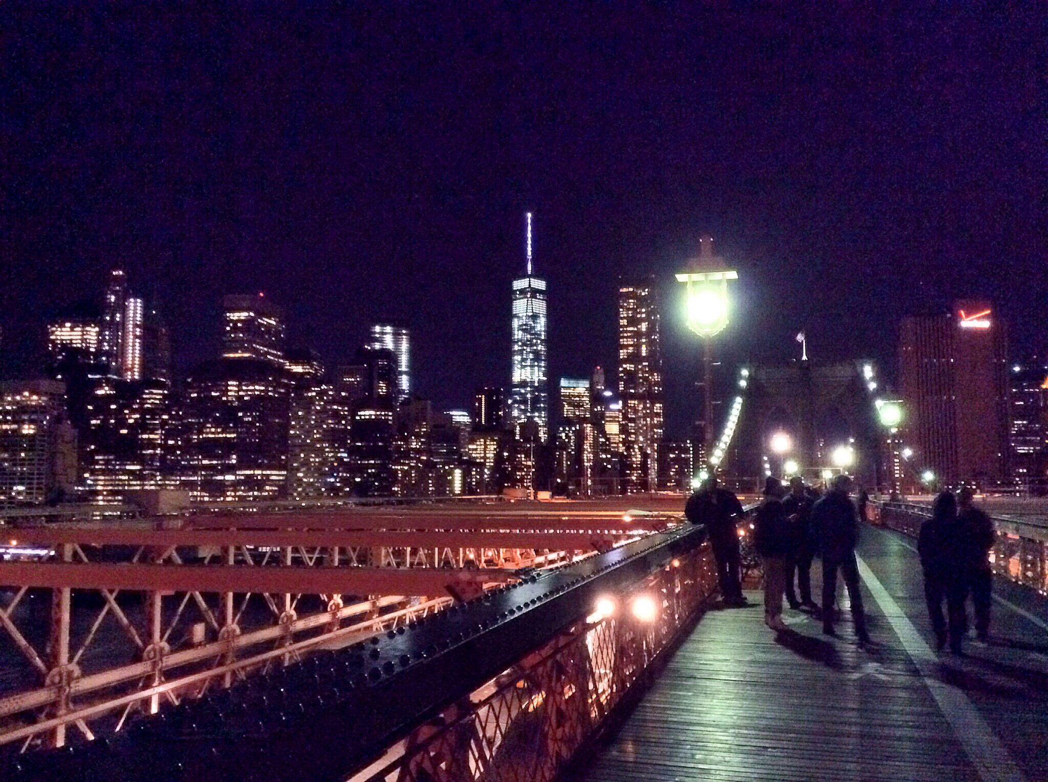 Skyline de Manhattan desde el Brooklyn bridge