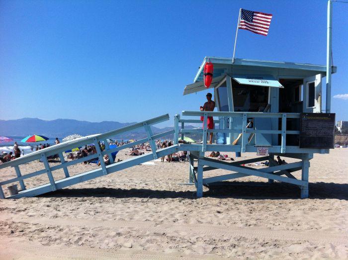 Caseta de los vigilantes de la playa