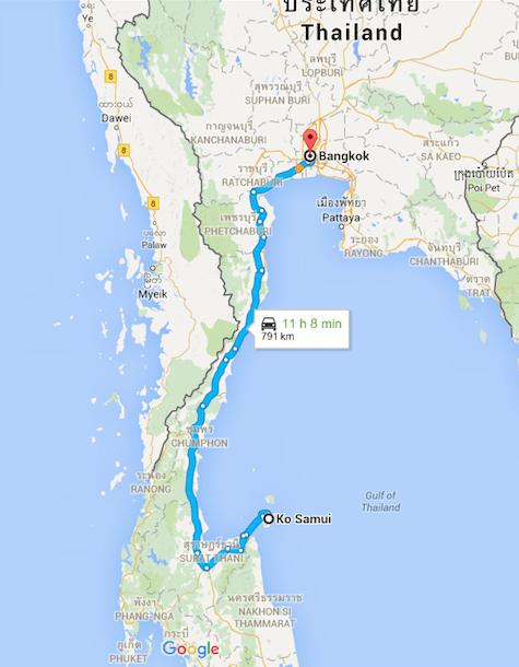 Viaje de Bangkok a Koh Samui