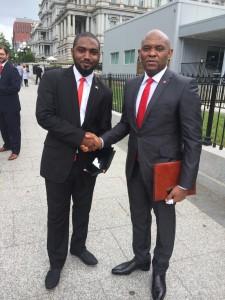 Shadi Sabeh & Tony Elumelu outside the White House, Washington DC