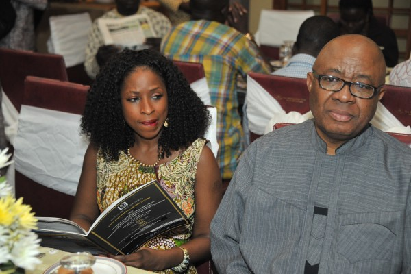 L-R Dupe Olusola, CEO Teragro Commodities Limited and Emmanuel Nnorom, CEO, Transcorp Nigeria Plc, at the event