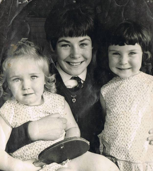 15-year-old school girl Yvonne with her sisters Catherine and Barbara before the World Table Tennis Championships in Sweden, 1967