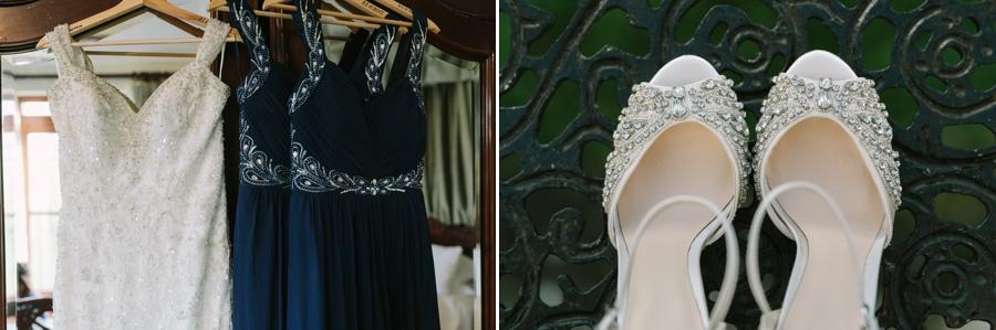 wedding dress and shoe details at Seint manor wedding
