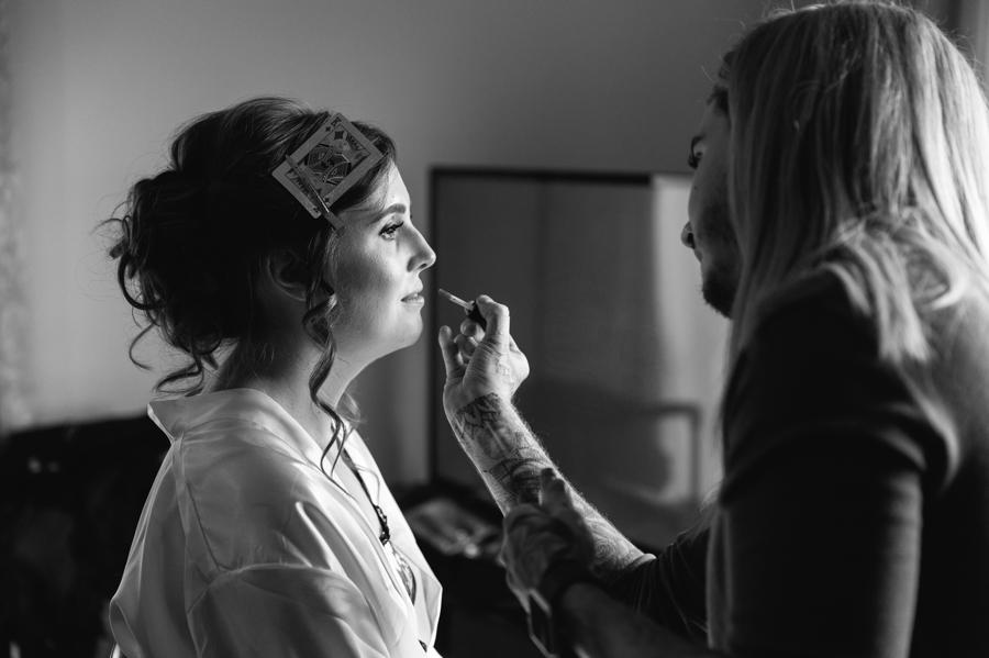 bridal make up at Seiont manor wedding