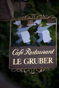 Strasbourg France, cafe sign
