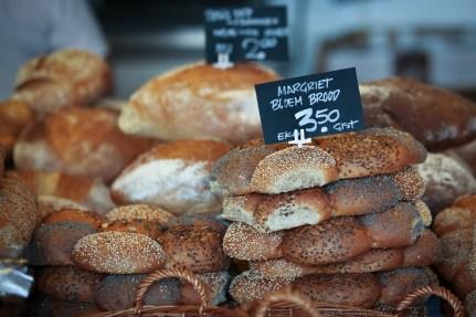 bread in Amsterdam market