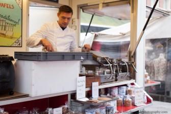 stroopwafel in Amsterdam market