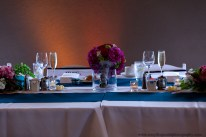Bride and Groom's table at wedding