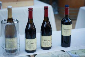Testarossa wine bottles.