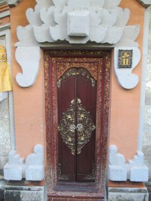 The door to my room has Dutch roots, as well as Balinese.