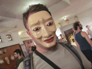 Me in a mask by I.B. Anom