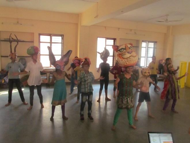 Queen Tiger leads a celebration dance