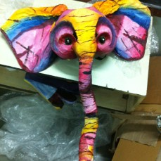 Sunset Elephant! I love it when I can conceal the eye-hole the actor looks through.