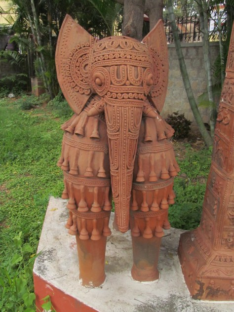 Terra Cotta elephant at the Museum of Mankind in Mysore.