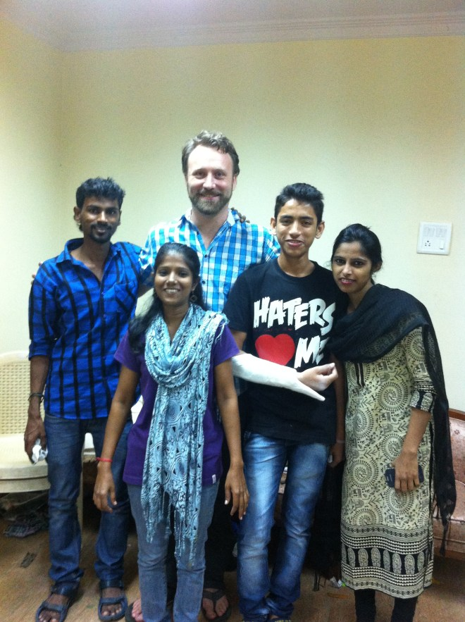 The Dadar Gang—Raju, Sunita, Rohit, and Sajida—get ready to watch on opening night