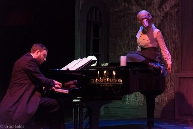 Eric Nordin (pianist) and Jamie Rea (Swan). Photo: Brud Giles