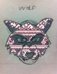 The patterns are all from various Russian folk patterns. Though I didn't pursue this further, the final wolf mask does have some textural similarity.