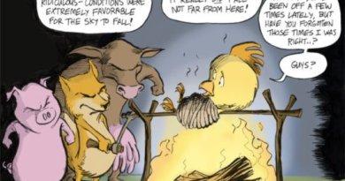 cartoon - The 2011 Cynic Measures His Predictions