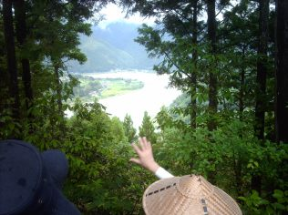 Kumano River below
