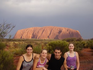 Ayers Rock in sun