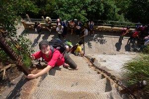 Hua-Shan-Roo-clibing-down-stairs