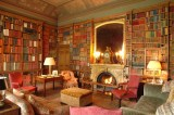 The impressive library at Elton Hall was used to film Ghost Stories for Christmas