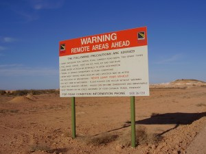 Remote Warning Sign
