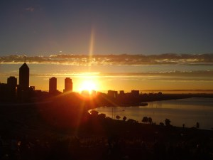 Dawn over Perth