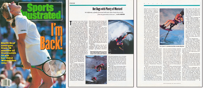 Klarich Murphy Water Skiing Hot Dog Hydrofoil Sports Illustrated