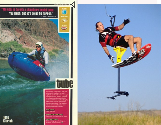 Klarich Tube Sky Ski Water Ski Magazine best of 1999