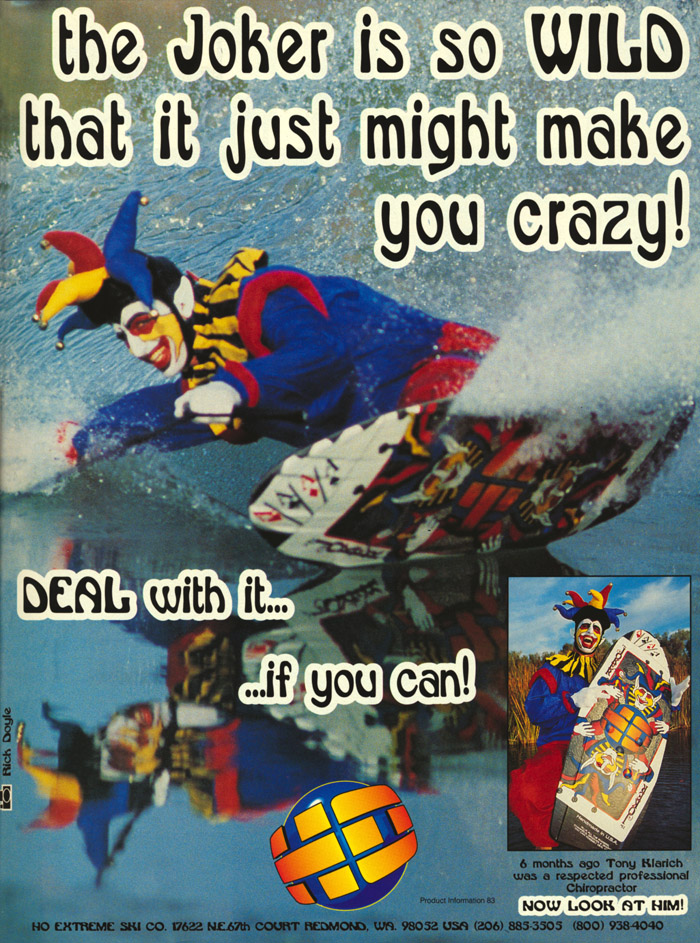 Klarich water ski kneeboarding HO Joker Ad