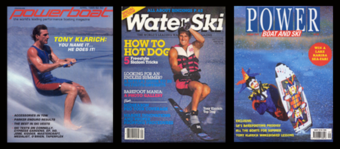 Tony Klarich Water Ski Magazine COvers